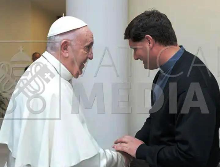 Mauro Canalis celebró misa junto al Papa Francisco