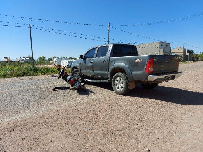 Motociclista grave al accidentarse en San Cristóbal