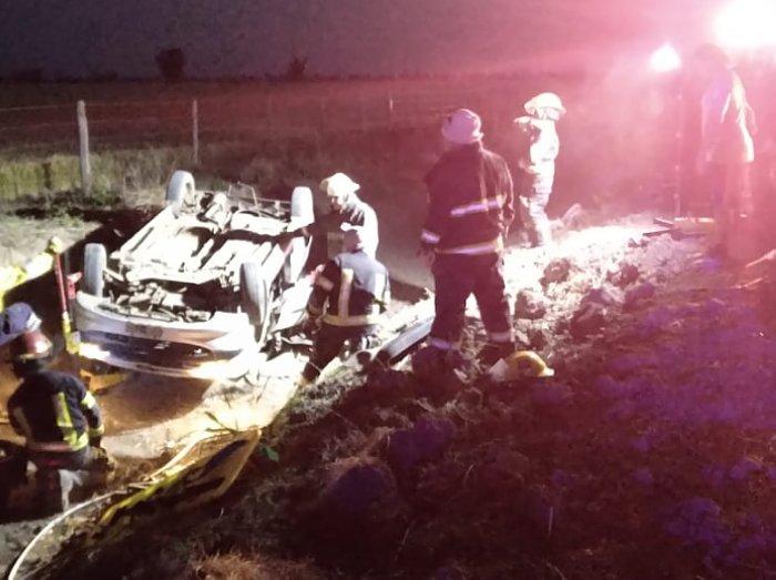 Madre e hija se accidentaron en zona rural de La Rubia