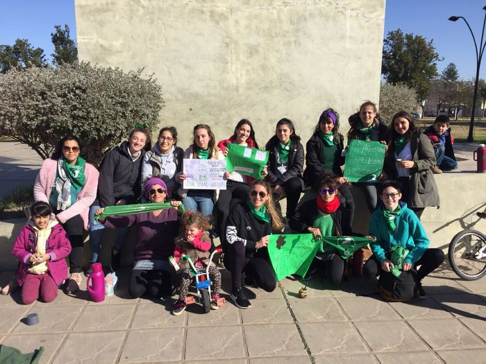 Mujeres de Suardi se manifestaron en favor del aborto