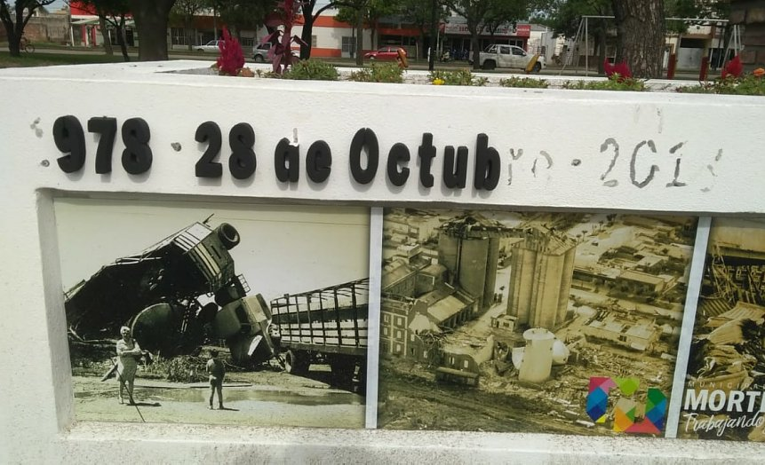 Vándalos atentaron contra un monumento en Morteros